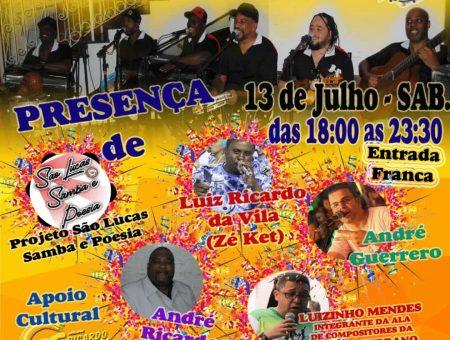 Neste sábado (13/7) tem Roda de Samba na Matriz