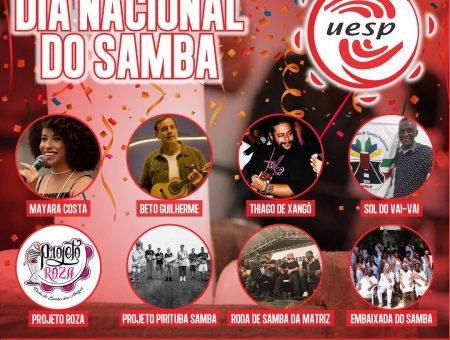 Uesp comemora o Dia Nacional do Samba com vigília e alvorada
