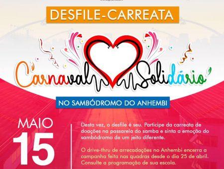 Carnaval Solidário SP arrecada 30 toneladas de alimentos